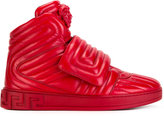 Versace quilted Medusa head high-tops - men - Leather/rubber - 41.5