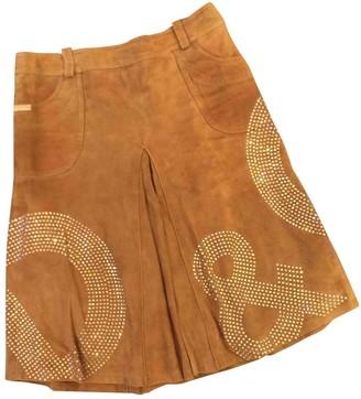 Dolce & Gabbana Camel Leather Skirt for Women