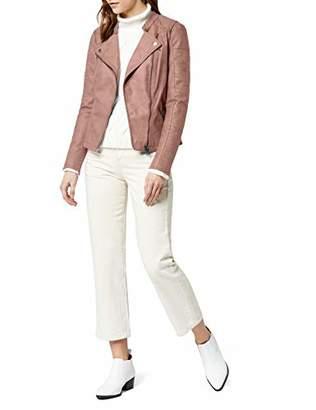 Only Women's onlAVA FAUX LEATHER BIKER OTW NOOS Kunstlederjacke Long Sleeve Jacket,8 (Manufacturer Size: )