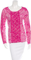 Tory Burch Embroidered Floral Print Top
