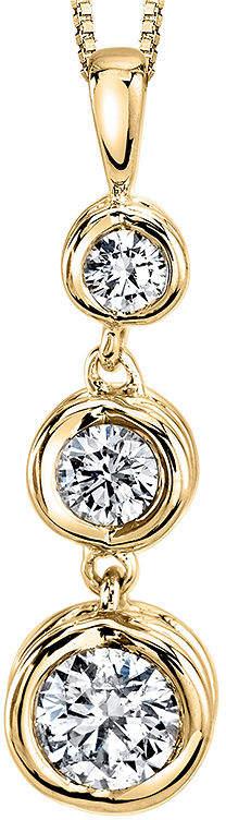 Sirena 1/4 CT. T.W. Diamond 14K Yellow Gold Pendant Necklace