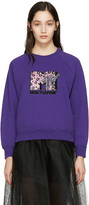 Marc Jacobs Purple Embroidered MTV Pullover