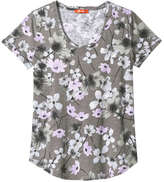 Joe Fresh Women's Print Slub tee, Dark Blue (Size XS)