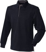 Front Row Mens Super Soft Long Sleeve Rugby Polo Shirt (XL)