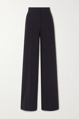 Max Mara Afoso Stretch-wool Wide-leg Pants - Navy