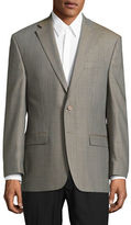 Lauren Ralph Lauren Slim Fit Ultraflex Houndstooth Silk-Wool Dress Jacket