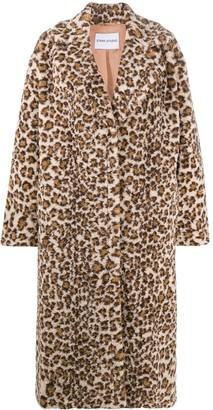 Stand Studio Leopard Print Single Breasted Coat