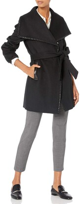 Elie Tahari Women's Natasha Wool Wrap Coat