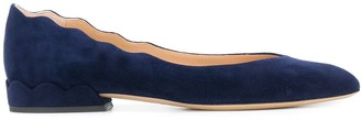 Chloé Laurena suede ballerina shoes