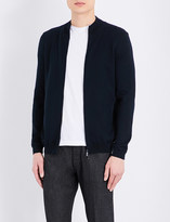 HUGO BOSS Zip-up knitted cardigan
