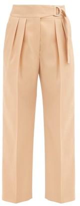 Jil Sander Napoleon Pleated Virgin Wool-gabardine Trousers - Camel