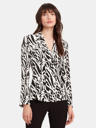 Diane von Furstenberg Courtney Silk Crepe de Chine Blazer