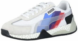 Puma Men's BMW M Motorsport Speed Hybrid Sneaker White-Glacier Gray Black 6 M US