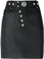 Alexander Wang multi snap mini skirt - women - Cotton/Lamb Skin/Polyester/Spandex/Elastane - 2