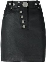 Alexander Wang multi snap mini skirt - women - Cotton/Lamb Skin/Polyester/Spandex/Elastane - 4