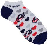 For Bare Feet Women's Columbus Blue Jackets Heart Logo Repeat Socks
