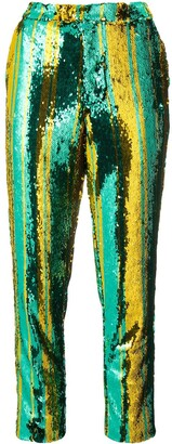 Halpern Sequin Embellished Trousers