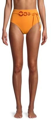 Time and Tru Women's Papaya Juice High Waist Swimsuit Bottom