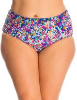Kenneth Cole Plus Size Don't Mesh with Me High Waist Bikini Bottom 8139313