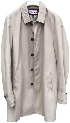 Hunter Beige Cotton Trench Coat for Women