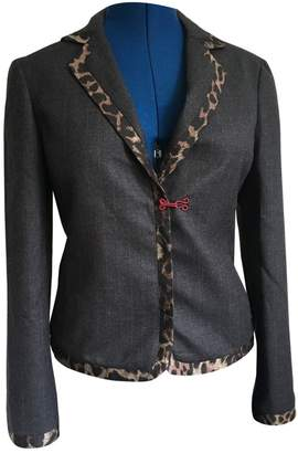 Pollini Anthracite Wool Jacket for Women