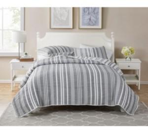 Seventh Studio Dover Stripe 3-Piece Full/ Queen Poly Cotton Quilt Set