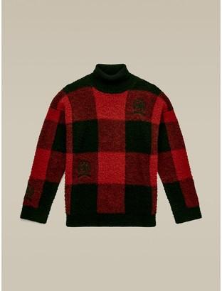 Tommy Hilfiger Crest Buffalo Check Turtleneck Sweater