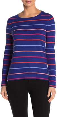 J.Crew Multicolor Stripe Print Pullover Sweater