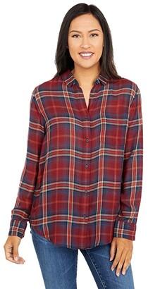 Pendleton Helena Button Front Shirt (Rust Plaid) Women's Clothing