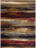 Dakota Tayse Rugs Contemporary Abstract Area Rug, Multi-Color, 6'7''x9'6''