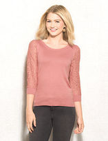 dressbarn roz&ALI Lace Sleeve Pullover