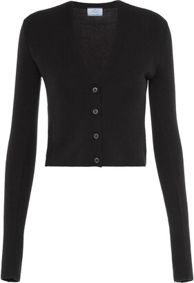 Prada V-neck cropped cardigan