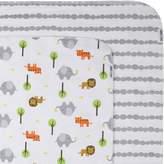 Zoocchini Newborn Flannel Receiving Blanket-Set of 2-Safari Grey