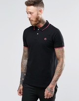Paul Smith PS by Polo Shirt With PS Logo In Slim Fit Black