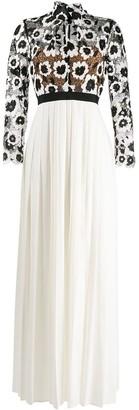 Self-Portrait lace top empire dress