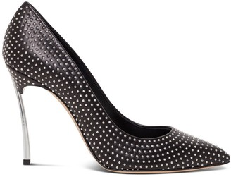 Casadei Blade Heel 100 Pointed Decollete With Silver Studs