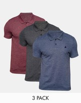 Asos 3 Pack Pique Muscle Polo With Logo