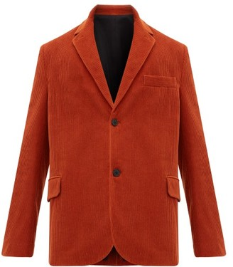 Raey Single-breasted Cotton-blend Corduroy Blazer - Mens - Dark Orange