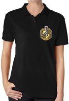MeGo Shine Women's Polo T Shirt Harry Potter Hufflepuff Badger