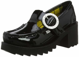 Kickers Women's Klio T-Bar Closed Toe Heels (Black Blk) 5 (38 EU)