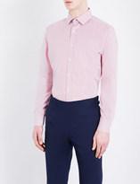 Duchamp Mini Stripe tailored-fit cotton-poplin shirt