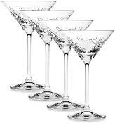 Top Shelf Graffiti Martini Glasses (set of 4)