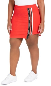 Lala Anthony Trendy Plus Size High-Low Active Mini Skort