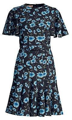 Michael Kors Women's Cornflower Belted Dance Dress