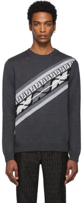 Fendi Grey Wool Forever Sweater