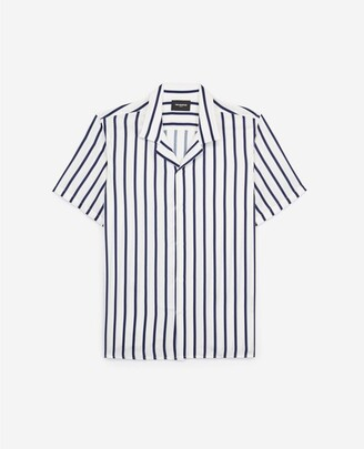The Kooples Flowing striped short-sleeved shirt