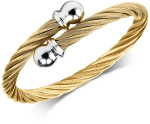 Charriol Cable Twist Bangle Bracelet in Pvd Gold-Tone Stainless Steel