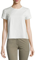 Theory Henrikka Light Poplin Short-Sleeve Top