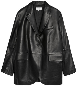 Arket Oversized Leather Blazer