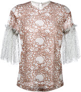 Marco De Vincenzo embroidered top - women - Polyester - 38